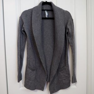 Aeropostale Open Front Cardigan Gray Sweater XS